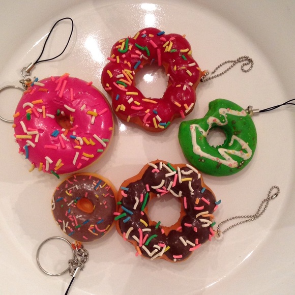 Squishy Donut Keychain : 63% off Squishy Accessories - ??5pc Premade Bundle of Sprinkled Donut Keychains from ...