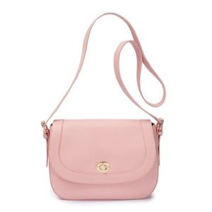 HP 7/15 Ora Delphine leather pink retail $225