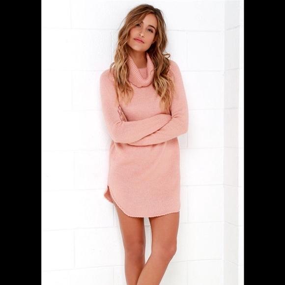 d9c93a438c82 Lulu's Dresses | Lulus Blush Pink Sweater Dress | Poshmark