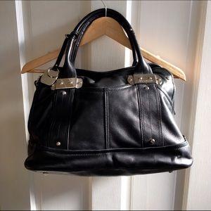 b. makowsky Bags   B Makowsky Black Silver Hardware Purse   Poshmark 4ad25ef5a1