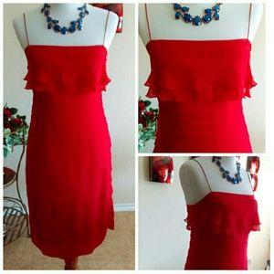 Robbie Bee Dresses - ⬇Pretty Chiffon Silk Tiered Dress