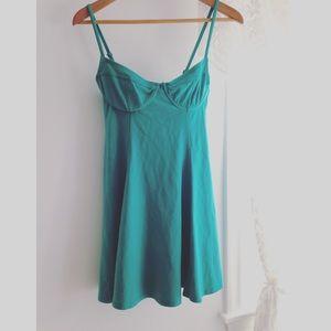 NWT Forever 21 bra top mint peplum tunic Dress L