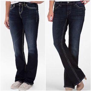 🆕 Silver contrast stitch boot cut jeans
