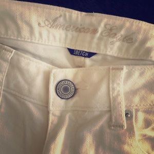 White skinny jeans size 6