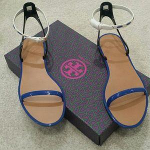 Tory Burch jelly sandal w/ leather strap (SZ:8)