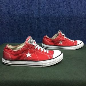 07d86a55c5b64f Converse Shoes - CONVERSE ONE STAR red canvas ALL OX . 40 9