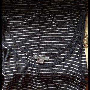 Vince Tops - SALE‼️ Vince Navy Rib Knit Stripe Tank