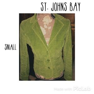 St. John's Bay Jackets & Blazers - Vintage inspired green corduroy jacket-S