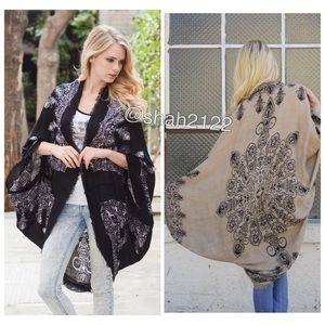 Boutique Accessories - Oversized kimono cocoon scarf cardigan shawl cover
