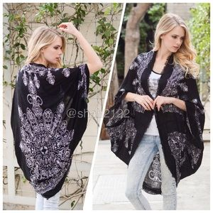 new kimono scarf cocoon cardigan cover up