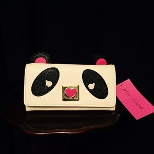 NWT Betsey Johnson Panda Crossbody Small Bag