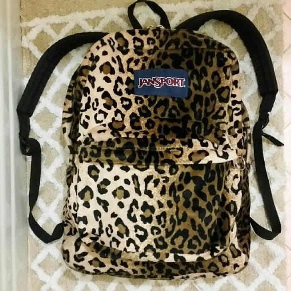 2ac09e42c6c3 Jansport Handbags - Fuzzy! Cheetah Print Jansport Backpack