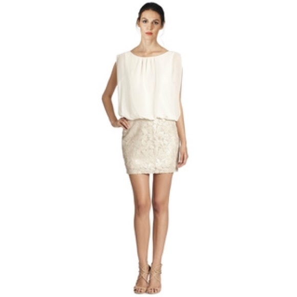 Aidan Mattox Dresses | Gorgeous Ivory Blouson Sequin Dress Worn Once ...