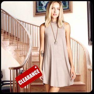Dresses & Skirts - 🎉HP  Mocha Mock Neck Tunic Dress