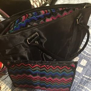 Colorful Diaper bag with glitter