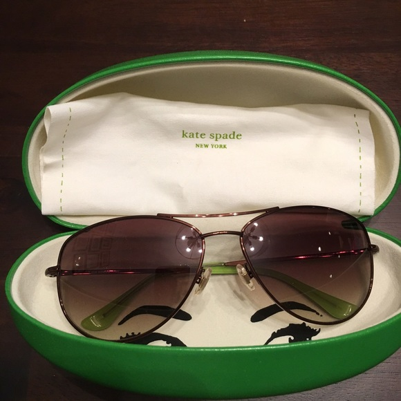 6fc17fdb8e6a kate spade Accessories - Kate Spade Ally Polarized Aviator Glasses Brown
