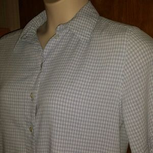 Tan Jay Tops - Darling blue/white gingham blouse w/embroidery