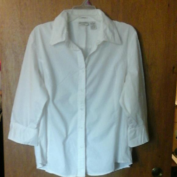 St johns Tops - White 3/4 sleeve blouse