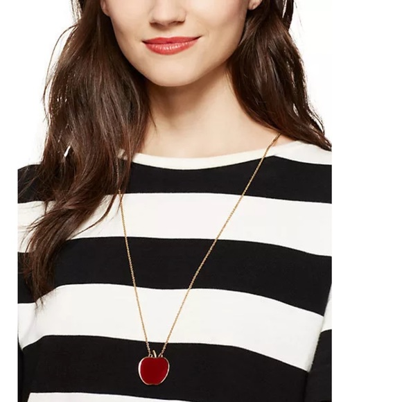 64 off kate spade jewelry kate spade new york nyc apple pendant kate spade new york nyc apple pendantnecklace mozeypictures Image collections