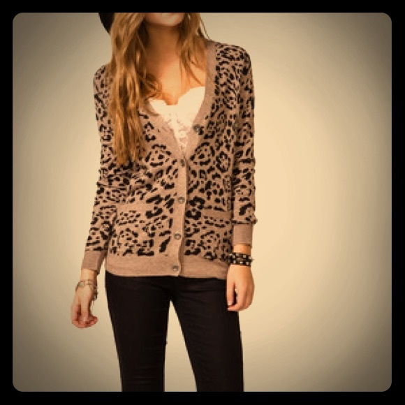 Forever 21 - Forever 21 leopard print cardigan from Emily's closet ...
