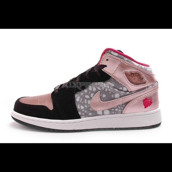 Nike Girls Air Jordan 1 Phat GS VDay Shoes