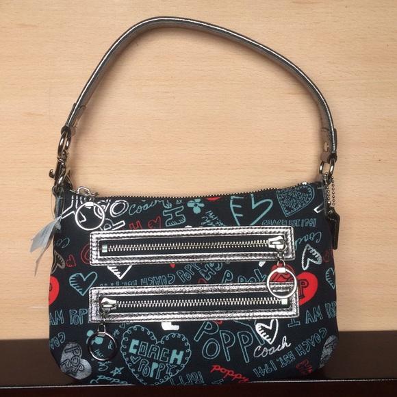 coach bags poppy graffiti hearts and flowers bag poshmark rh poshmark com