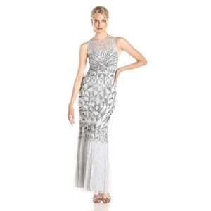 JS Collection Sequined Beaded Gown