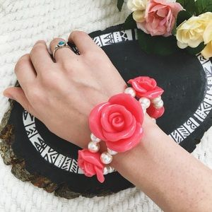 Jewelry - Rose and Pearl Bracelet