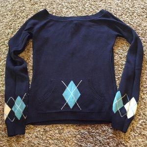Rue 21 Sweaters - Navy argyle sweater