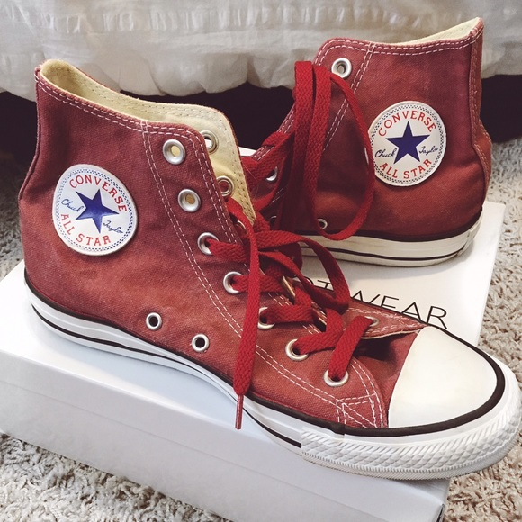 c270825024b5 Converse Shoes - Converse Chuck Taylor Faded Jester Red High Tops