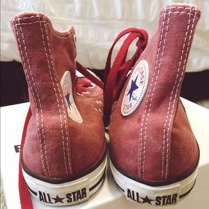 556454e00ebf Converse Shoes - Converse Chuck Taylor Faded Jester Red High Tops
