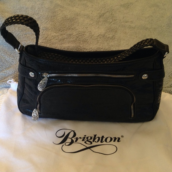 Brighton Bags Never Used New Black Croco Handbag Poshmark