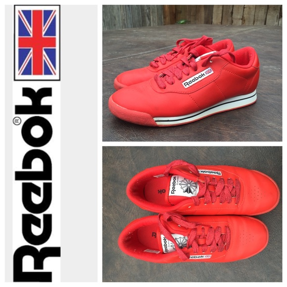 5a4d9d28419 Bright Red Vintage Reebok Classic Princess. M 56db21332ba50ad0cc0387db