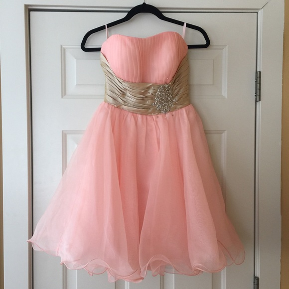 JJ\'s House Dresses | Jjs House Pink Short Prom Dress Size 24 | Poshmark