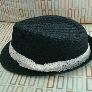 Fedora with crochet  bow