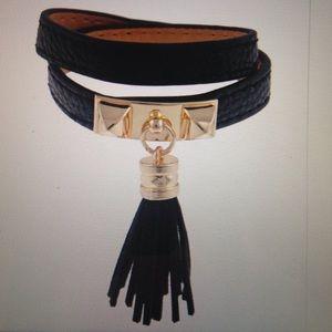 Jewelry - Pyramid stud & tassel wrap bracelet