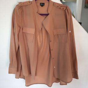 Studded shoulder blouse