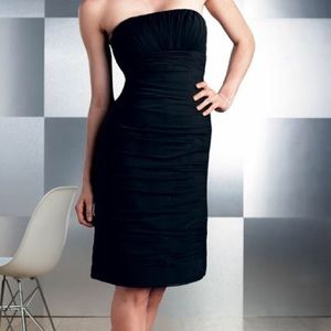 Dress, Black Strapless Cocktail