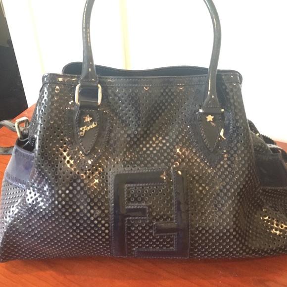 FENDI Bags   Leather Perforated De Jour Shoulder Bag   Poshmark 9b695af001
