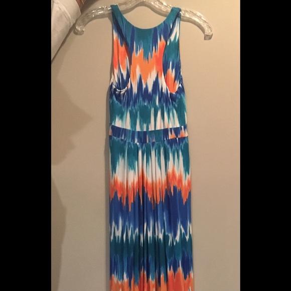 32% off tart dresses & skirts - tart orange and blue maxi dress