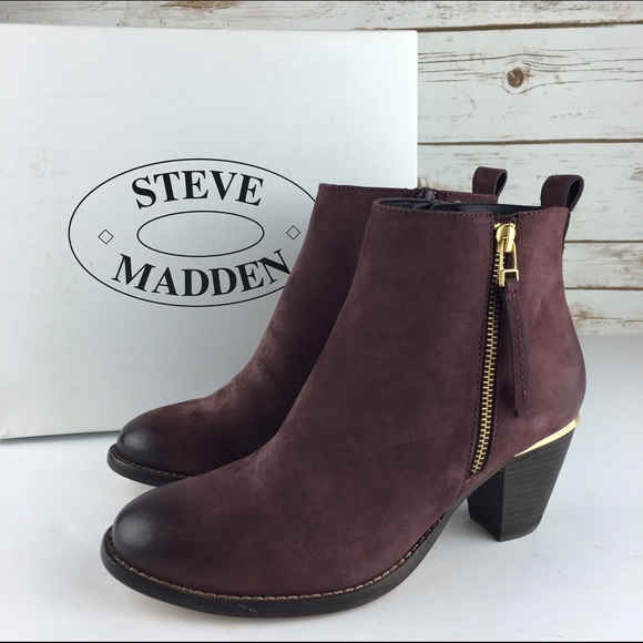 66ea87e563a4  Steve Madden  Wantagh Burgundy Ombre Bootie Chic