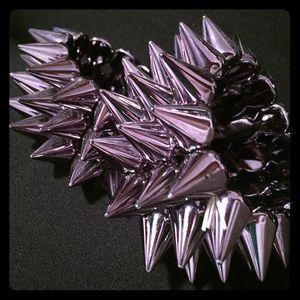 Two Metallic Spiked Bracelets!
