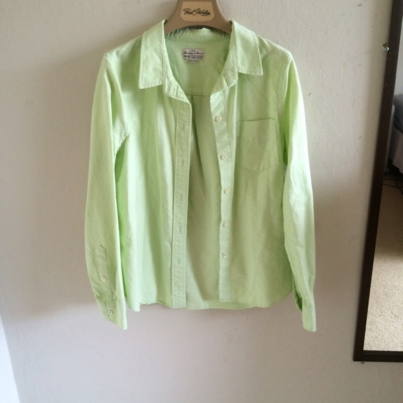 Madewell - Madewell Neon Green Button-down Shirt from Aerin's ...