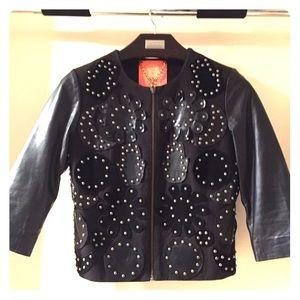 Manoush Leather and canvas jacket