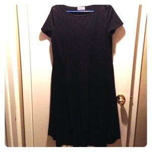 Black skater dress w/ chevron pattern!