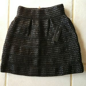 Faux leather Skirt Size XS black New