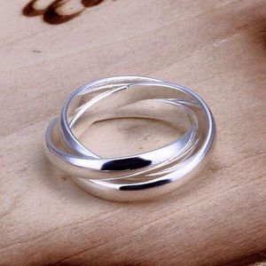 925 sterling silver plated ring
