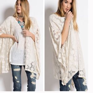 Sweaters - •lace cardi•