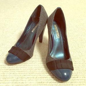 Grey and teal Charles David high heels