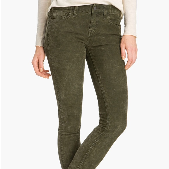 71% off Free People Pants - Free People Olive Corduroy Pants from ...